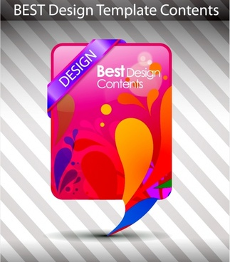 decorative background modern flat colorful speech bubble shape