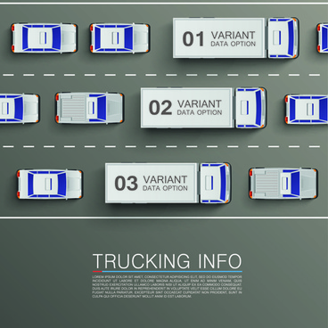vector trucking infographics
