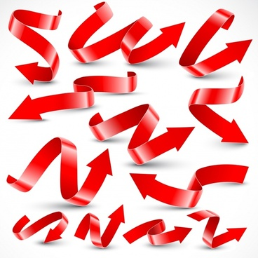 vector variety of festive ribbons ribbons