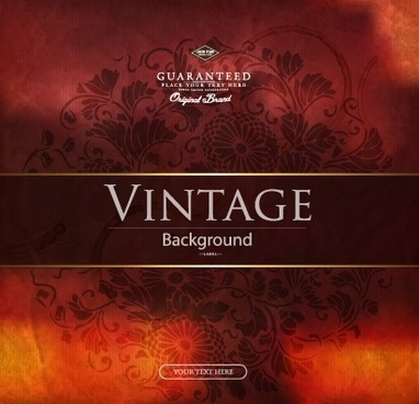 vector vintage background creative design