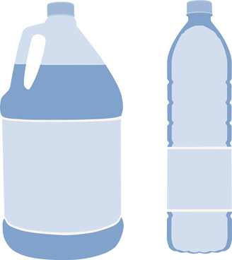 vector water bottle template