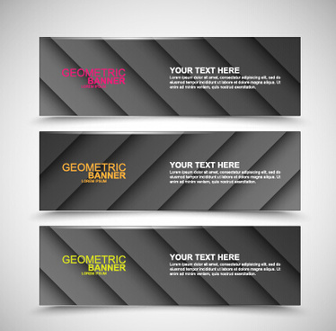 vector web banners creative design graphics set