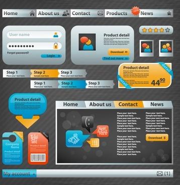 web site design elements elegant colored modern design