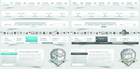 vector web elements menu art graphic
