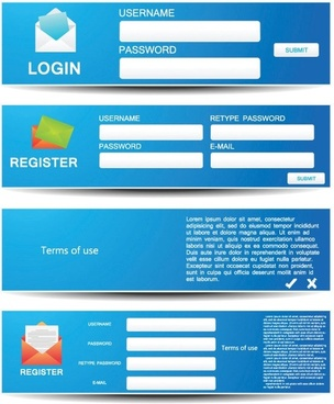vector web forms