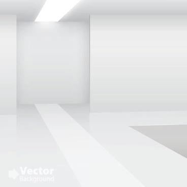 gallery room template elegant shiny modern 3d sketch