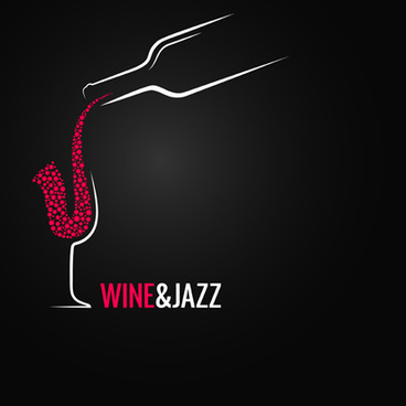 vector wine background creative design set