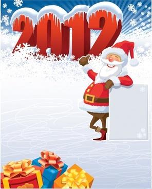 vector winter christmas 2012