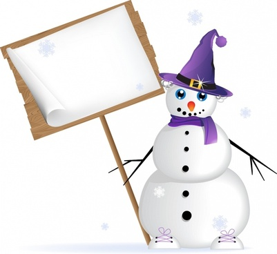 vector winter christmas signboard