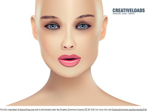 vector woman portrait