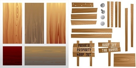 wooden signboard design elements colored accessories decoration