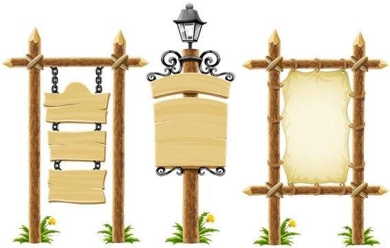 vector wooden bulletin board lights