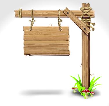 vector wooden signs design elements