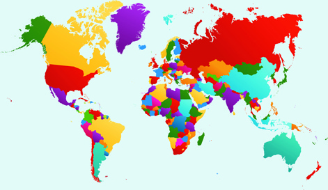 World map free vector download 3594 free vector for commercial vector world map design graphics set gumiabroncs Images