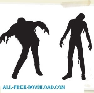 Vector Zombies Halloween