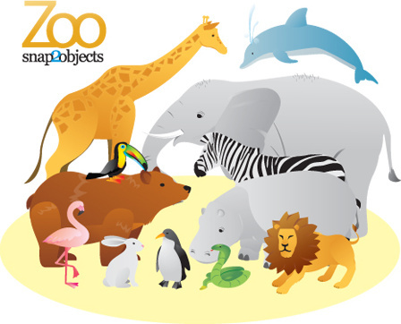 vector zoo animals