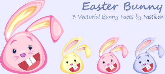 vectorial rabbit faces