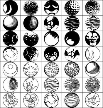 vectorial spheres brush