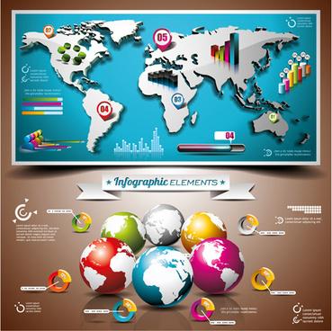 vectors infographics elements set