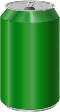 Vectorscape Green Soda Can clip art