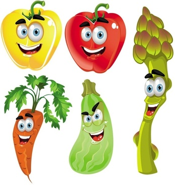 vegetable cartoon image 02 vector