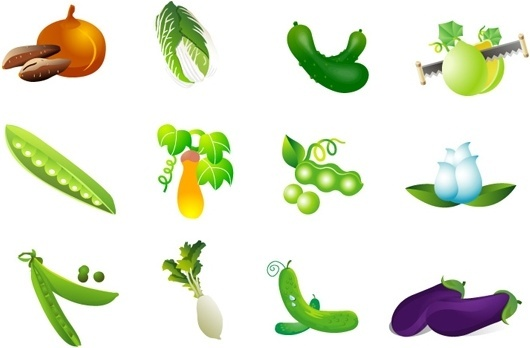 vegetable clip art of four
