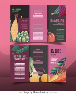 vegetable flyer templates dark classic trifold decor