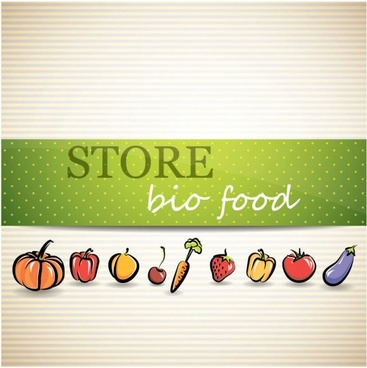 vegetable menu background 02 vector