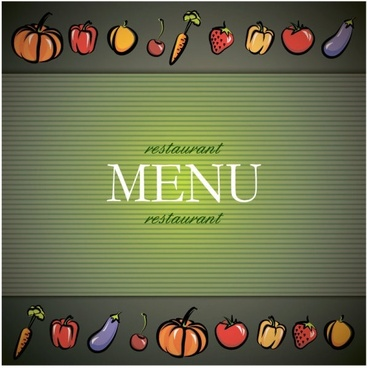 vegetable menu background vector