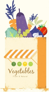 vegetable stores advertisement multicolored retro design