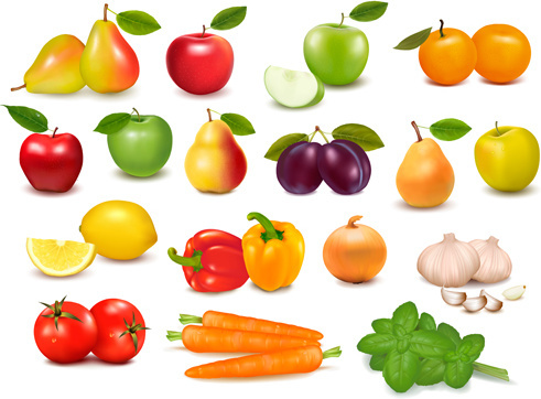 Fruits and vegetables vector free vector download 2851 free vector vegetables and fruit design elements vector altavistaventures Choice Image