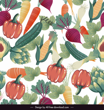 vegetables background colorful flat classic design
