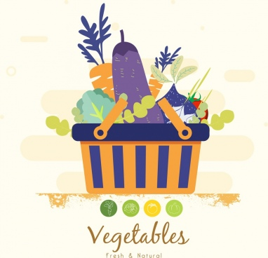 vegetables basket background multicolored classical design