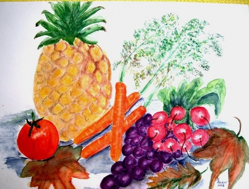 vegetables fruit painting