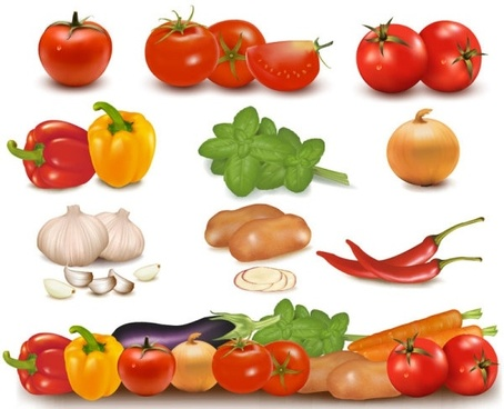 vegetables image 01 vector