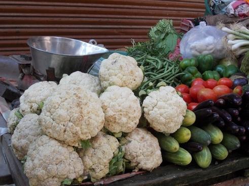 vegetables market food