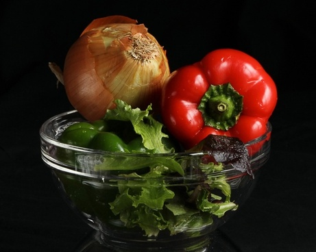 vegetables peppers onion