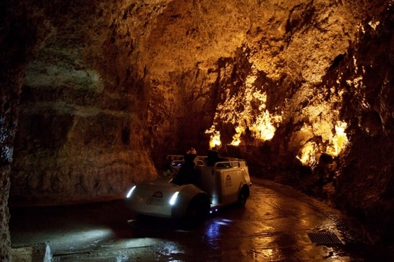 vehicle in cave