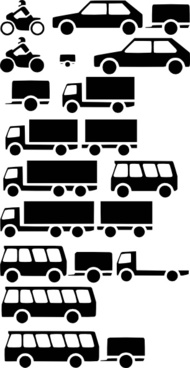 Vehicles Silhouette clip art