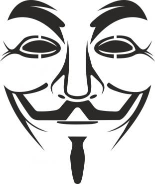 vendetta mask logo free vector