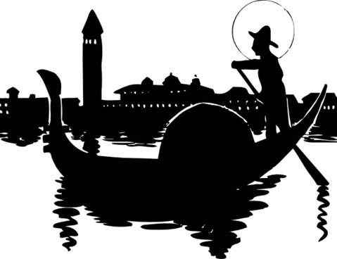 Venice Boat clip art