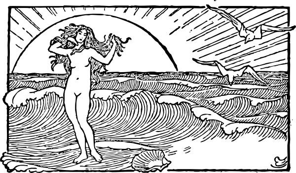 Venus And The Half Shell clip art