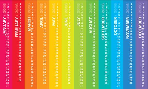 vertical banner calendar16 vector