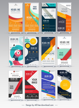 vertical banner templates colorful modern design