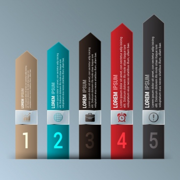 vertical infographic design colored arrows decoration