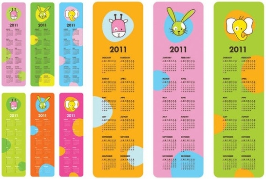 very cute clip art calendar 2011