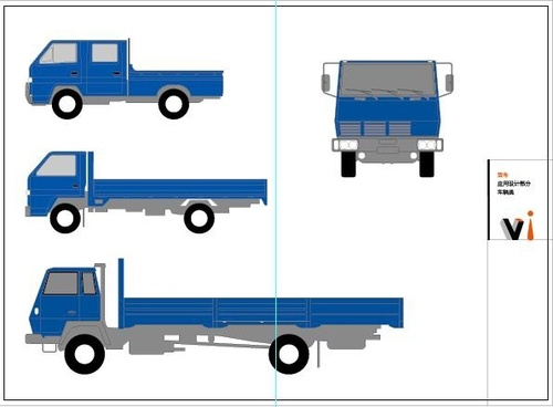 trucks icons sketch colored design various view style