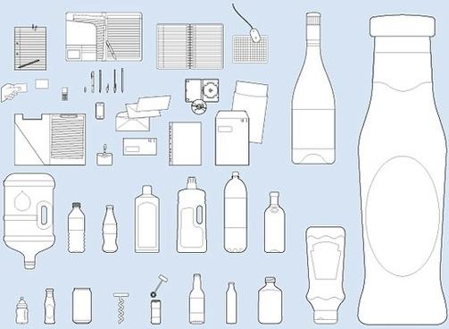 vi design elements vector