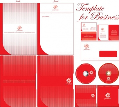 decorative background templates business design elements red decor