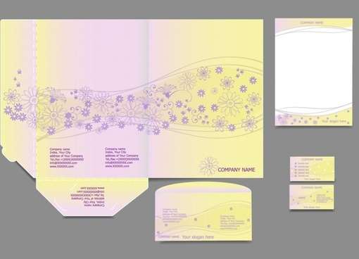 vi template vector business cards letterheads